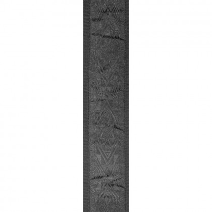 Planet Waves Black Satin Padded Woven Guitar Strap