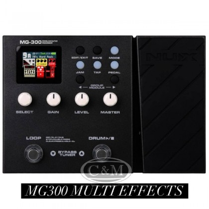 NUX MG300 Guitar Modelling Processor Multi Effects Pedal (MG-300/MG 300)