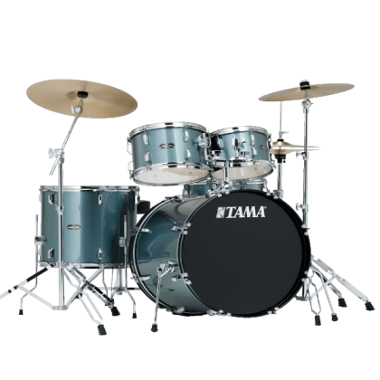 Tama SG52KH6 Stagestar 5 Piece Drumset - Charcoal Silver With Cymbal