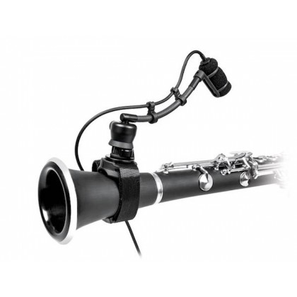 Audio Technica ATM350W Cardioid Condenser Instrument Microphone with Woodwind Mounting System