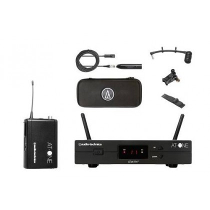 Audio Technica ATW-11/ATM350U AT-One Wireless Cardioid Condenser Instrument Microphone with Universal Clip-on Mounting System