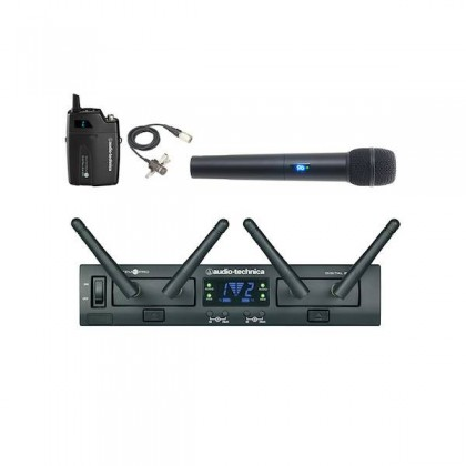 Audio Technica ATW-1312/ 829cW System 10 PRO Rack-Mounted Digital Wireless 1 Clip-On + 1 Handheld Microphone System