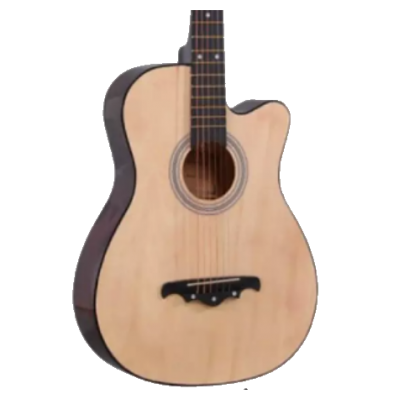 Acoustic Guitar 38 in with Bag, Capo, Picks, String.