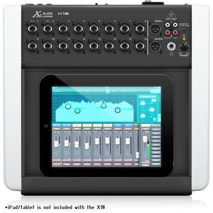BEHRINGER X AIR X18 18-Channel, 12-Bus Digital Mixer For IPad/Android Tablets With 16 Programmable MIDAS Preamps, Integrated Wifi Module And Multi-Channel USB Audio Interface (IPad Not Included)