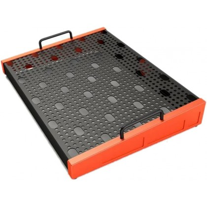 Temple DUO 17 Pedalboard, Temple Red with soft case